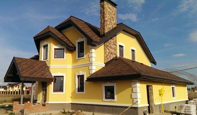 Оформление фасадов коттеджей