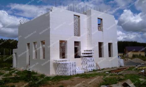 строительство коттеджа из несъемной опалубки
