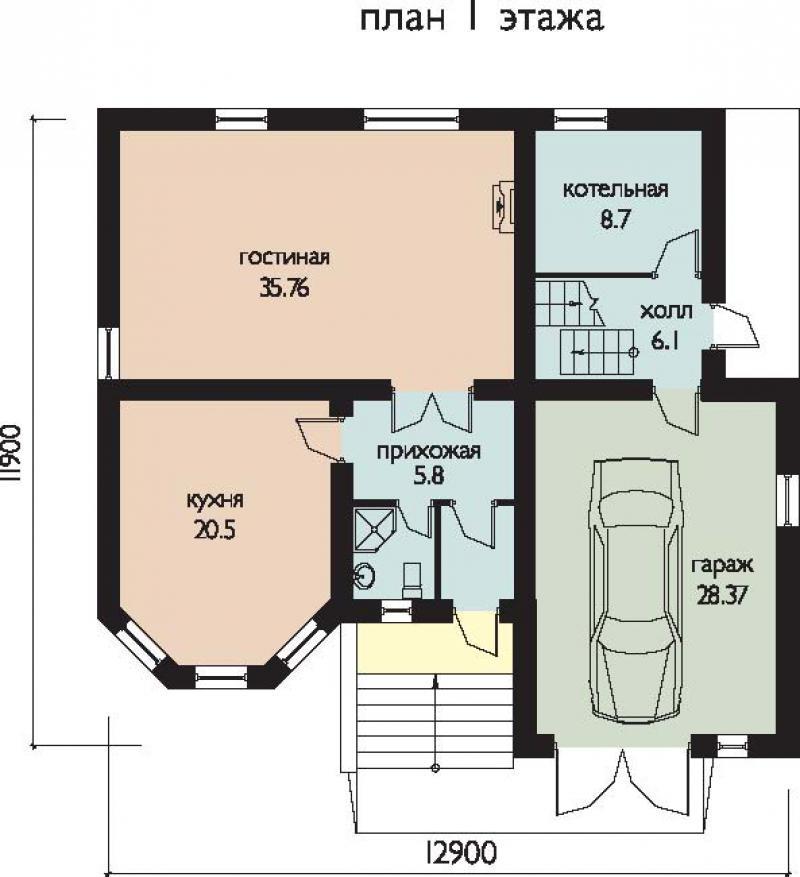 проекты 2 эт домов с гаражом