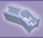 Несъемная опалубка-Модуль угловой поворотный