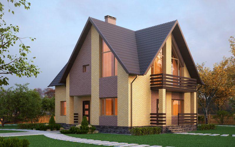 Красивый каменный дом.