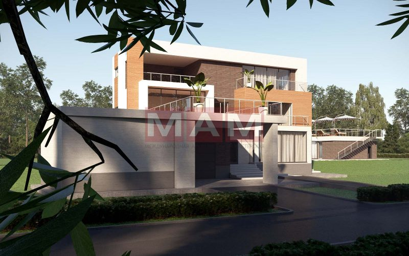 Проект дома Богута 2 вид спереди.