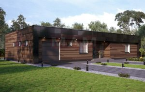 Проект дома Рейли вид спереди.
