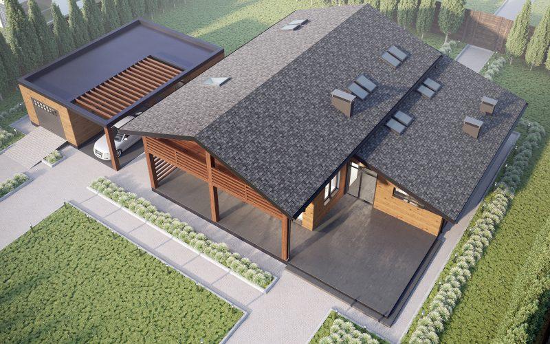 "Проект дома ""Бишоп"" вид сверху"
