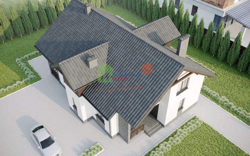 """Проект дома """"Бланк"""" вид с верху"""
