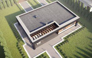 """Проект дома """"Прайд"""" вид сверху."""