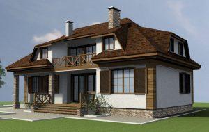 Проект просторного дома ВК-2